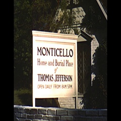Vintage 16mm film, 1952 Monticello, home of Thomas Jefferson, montage Stock Footage
