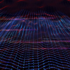 3D abstract animation of high ripple sound wave equalizer bouncing background Stock Footage