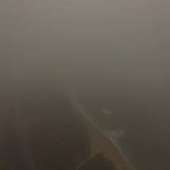 4K Aerial Drone Foggy Coastline Stock Footage