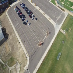 The view of a relatively large parking lot from above COLORADO Stock Footage
