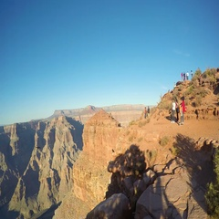 Grand Canyon time lapse with people moving aroung Stock Footage
