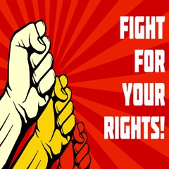Fight for your rights animation. Uprising fists video Stock Footage