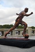 The sculpture of the soccer star Lionel Messi Stock Photos