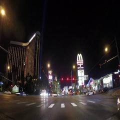 Awesome Las Vegas Strip night time lapse Stock Footage