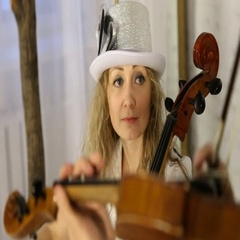 Portrait of sexy beautiful girl who plays the violin. Stock Footage