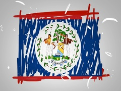 Belize - Hand drawn - Animation - outline - White Background - SD Stock Footage