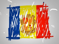 Andorra - Hand drawn - Animation - outline - White Background - SD Stock Footage