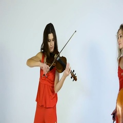 Musical performance on a white background. Stock Footage