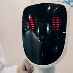Exposure robots and new technologies Stock Footage