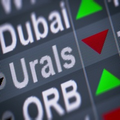 Urals Crude Oil. Down. Looping. Stock Footage