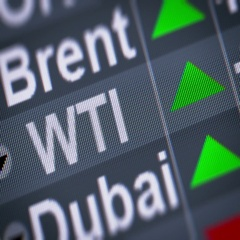 WTI Crude Oil. Up. Looping. Stock Footage