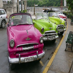 Classic American Cars For Tourists Parked In Havana Cuba Stock Footage