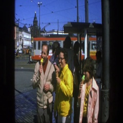 1975: people eating ice cream and sight seeing SWEDEN Stock Footage