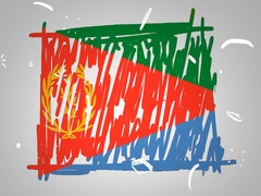 Eritrea - Hand drawn - Animation - outline - White Background - SD Stock Footage