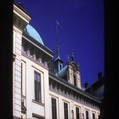 1975: view of a nice, government building. STOCKHOLM SWEDEN Stock Footage