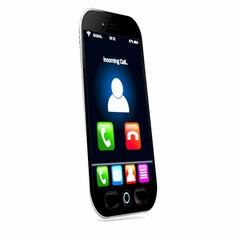 Smartphone ringing on white background Stock Footage