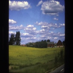 1975: drive on a country road SWEDEN Stock Footage