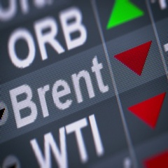 Brent Crude Oil. Down. Looping. Stock Footage