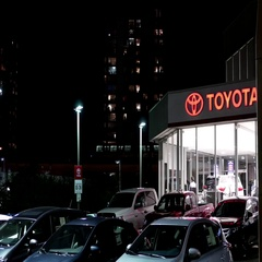 Toyota automobile dealership in New Westminster BC Canada Stock Footage