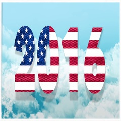 2016 American Flag In The Sky Stock Footage