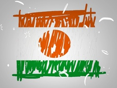 Niger - Hand drawn - Animation - outline - White Background - SD Stock Footage