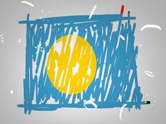 Palau - Hand drawn - Animation - outline - White Background - SD Stock Footage