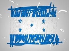 Honduras - Hand drawn - Animation - outline - White Background - SD Stock Footage