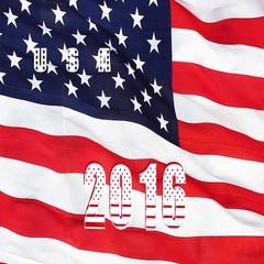USA 2016 Presidential Election Flag Stock Footage