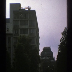1976: view outside of apartment building NORWAY Stock Footage