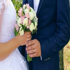 Happy bride and groom on their wedding hugging Stock Footage