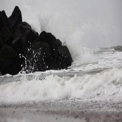Denmark in autumn, coast, waves Stock Footage