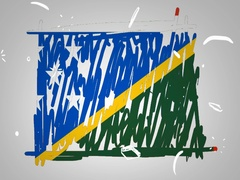 Solomon Islands - Hand drawn - Animation - outline - White Background  Stock Footage