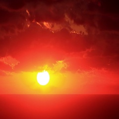 4K. Timelapse sunset on the sea. Earthquake. Ultra HD, 4096x2730. Stock Footage