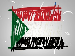 Sudan - Hand drawn - Animation - outline - White Background - SD Stock Footage