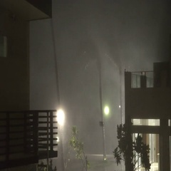 Hurricane Makes Landfall At Night With Strong Wind And Rain Stock Footage