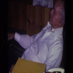 1971: old man sitting in rocking chair SAINT PAUL MINNESOTA Stock Footage