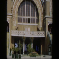 1951: the front of a large, elaborate church with ornate windows UTAH Stock Footage