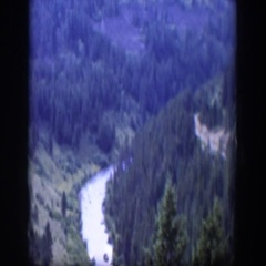 1951: lush valley with river running through it WYOMING Stock Footage