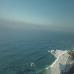 Cabo Da Roca Light House Aerial Video Stock Footage