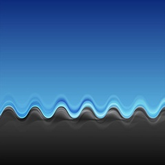 Abstract contrast blue black wavy video clip Stock Footage