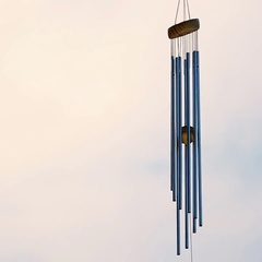 Wind chime tube mobile in breeze. Stock Footage