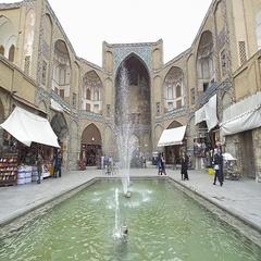 Isfahan Bazaar entrance Stock Footage