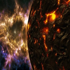 4K Birth of a Planet Concept Cinematic 3D Animation 2 Stock Footage