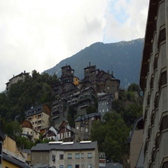 Old Town In The Mountains Stock Footage