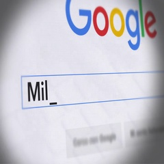 Google Search Engine - Search For Milk diet Stock Footage