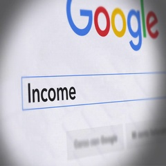 Google Search Engine - Search For Income Splitting Stock Footage