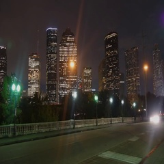 Timelapse view of Downtown Houston at night Arkistovideo