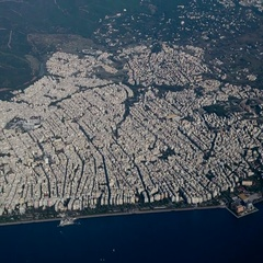 Thessaloniki, Greece aerial view. Stock Footage