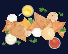 Indian food advert Stock Illustration