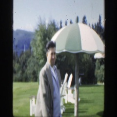 1950: windy day of the holiday MONTREAL CANADA Stock Footage
